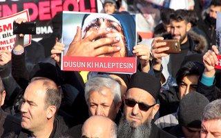 Erzurumlular Halep için yürüdü, fotoğraflar konuştu...