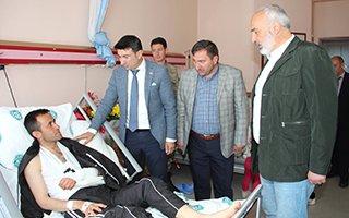 Başkan Vekili Doğan'dan yaralı askeri ziyaret
