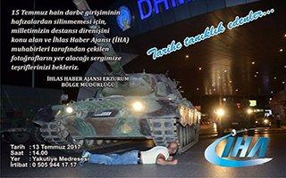'15 Temmuz Destanı' fotoğraf sergisi Erzurum'da
