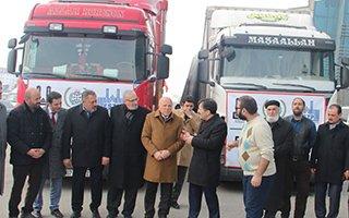 Erzurum'dan Suriye'ye 2 Tır insani yardım