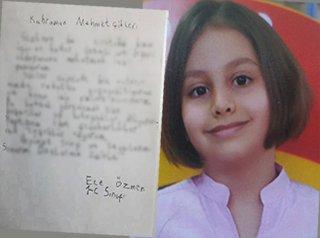 Erzurumlu Minik Ece'den Mehmetçiğe Mektup