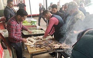 Dadaşlardan Afrin kahramanlarına cağ kebap
