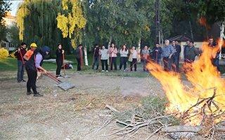 Mühendislere orman yangınına müdahale eğitimi
