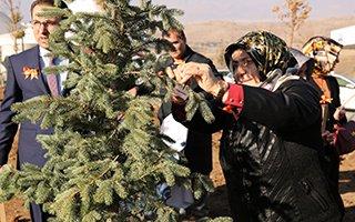 Erzurumlu kadınlar hatıra ormanı oluşturdu