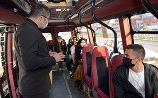 Vali Memiş toplu taşıma araçlarını denetledi
