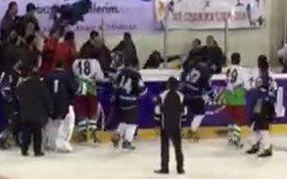 Buz Hokeyi maçında olaylar çıktı