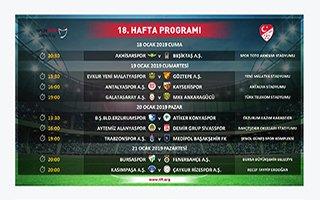 Süper Lig'de ikinci yarının ilk üç haftalık programı