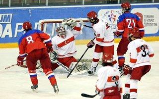 Buz hokeyinde Rusya'ya tarihi farkla yenildik