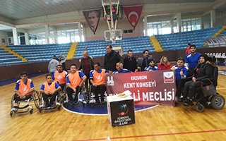 Erzurum'un ilk tekerlekli sandalye Basketbol takımı
