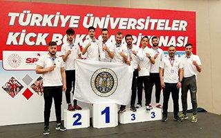 Atatürk Üniversitesi Kick Boks'ta Üçüncü Oldu