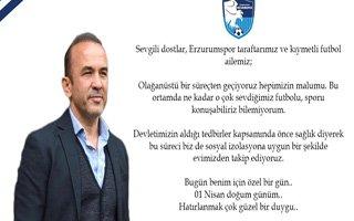 Mehmet Özdilek'ten doğum günü mesajı