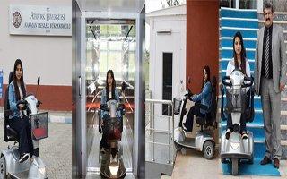 Engelli Öğrenci İçin Okula Asansör Yapıldı