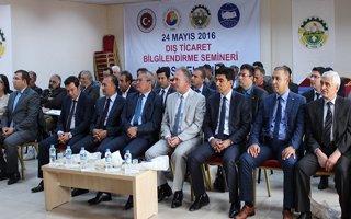 Dış ticaret bilgelendirme semineri düzenlendi