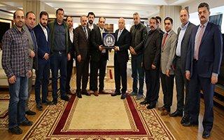 Erzurumlu işadamlarından Sekmen'e ziyaret
