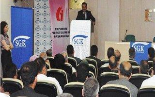 Erzurum SGK'dan yapılandırma semineri