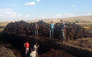 Karaçoban'dan İran'a 'Bitki torfu' ihracatı