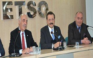 TOBB Başkanı Hisarcıklıoğlu ETSO'da konuştu