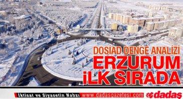Erzurum ilk sırada yer aldı