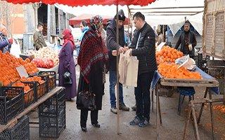 Palandöken Belediyesi Bez Çanta Dağıttı