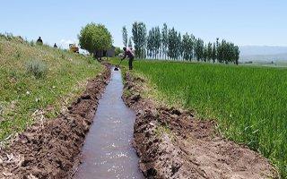 340 bin 290 dekar tarım arazisi sulanmaya başladı