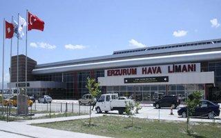 Erzurum'da uçak trafiği geriledi