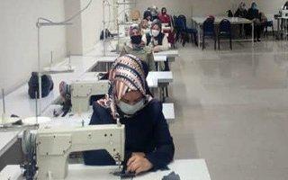Tekstil atölyesinde 75 kadın istihdam ediliyor