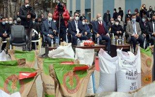 Erzurum'da çiftçilere yem bitkisi tohumu dağıtıldı