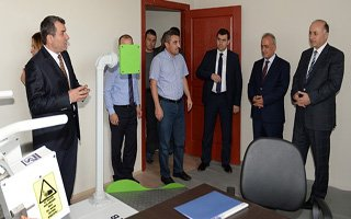 Vali Azizoğlu'ndan Rektör Çomaklı'ya ziyaret