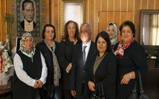Kadın deneklerinden Rektör Çomaklı'ya ziyaret