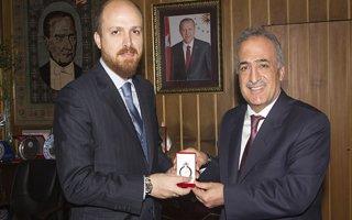 Bilal Erdoğan'dan Rektör Çomaklı'ya ziyaret