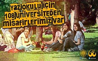 Yaz Okulu İçin 108 Üniversiteden öğrenci geldi