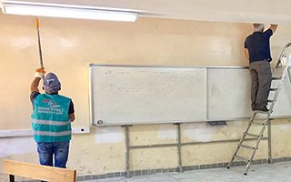 Erzurum'da Okulları Mahkumlar Güzelleştiriyor