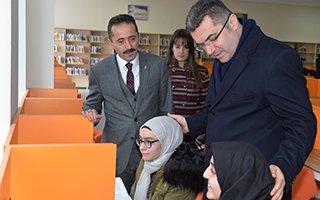 En büyük kütüphane Erzurum'da hizmete açıldı