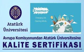 Atatürk Üniversitesine kalite sertifikası verildi