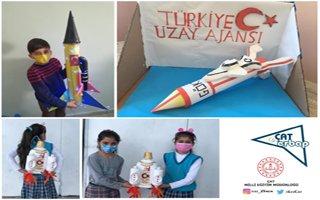 Çocuklar hayallerindeki uzay araçlarını tasarladı