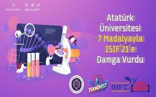 Atatürk Üniversitesi ISIF'21'e damga vurdu