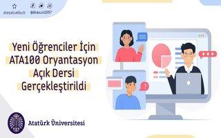 Yeni Öğrenciler için Ata 100 oryantasyon dersi