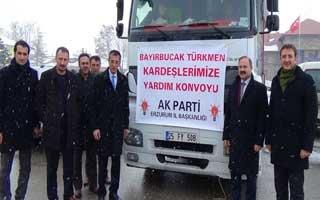 İl Teşkilatından Türkmenlere Yardım