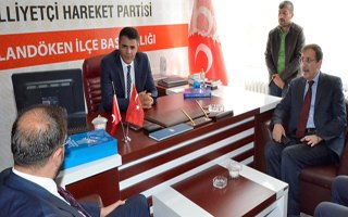 Ak Partili Bulutlar'dan MHP'li Aksakal'a ziyaret