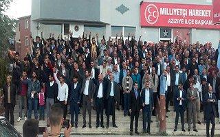 MHP Aziziye'de rozet takma töreni vardı
