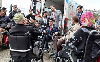 Palandöken Belediyesi engellileri sevindirdi