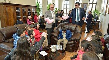 Öğrenciler Belediyeciliği Başkandan Öğrendi