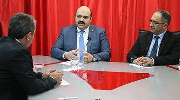 """""""Biz Bize Erzurum"""" Başkan Orhan'ı konuk aldı"""