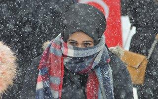 Erdoğan sevgisine kar ve tipi de engel olamadı