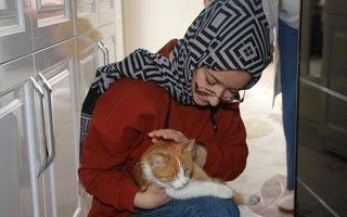 Başkan Orhan'dan Hayrunnisa'ya kedi sürprizi