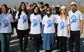 Erzurum'da diyabete dikkat çeken yürüyüş