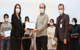 Gönüllü filyasyon ekibine teşekkür belgesi verildi