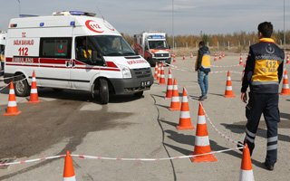 Ambulans şoförlerine ASTE eğitimi verildi