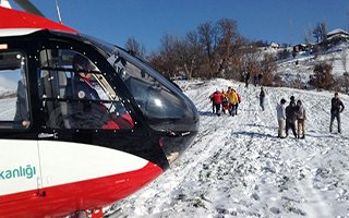 Helikopter ambulans Türkiye birincisi oldu!