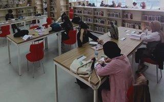 Erzurumdaki kütüphaneler dolu dolu